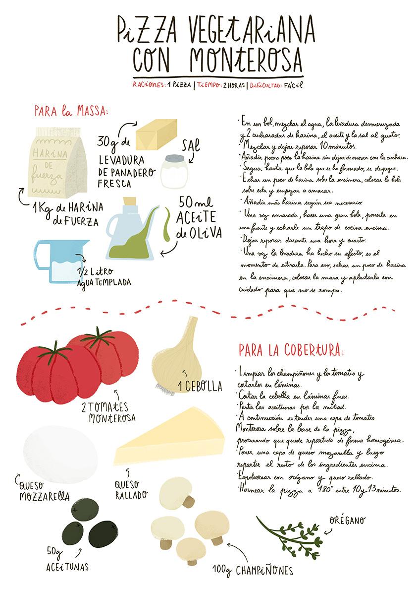 Pizza vegetariana con Monterosa